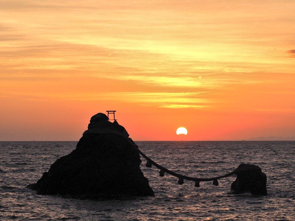 鳥居富士山-二見浦夫婦岩