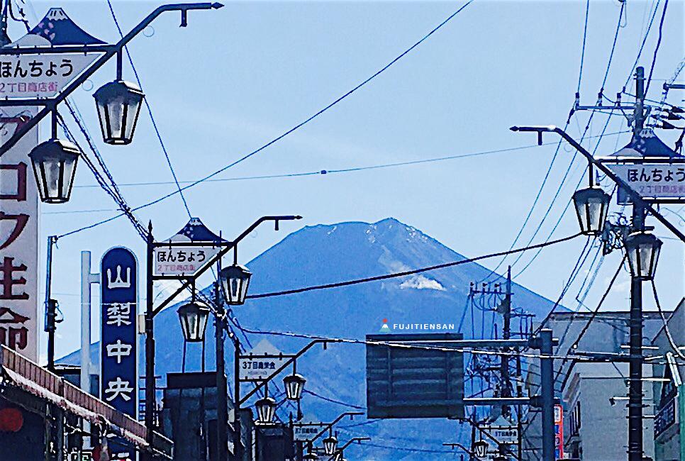 初冠雪富士/初雪化粧富士