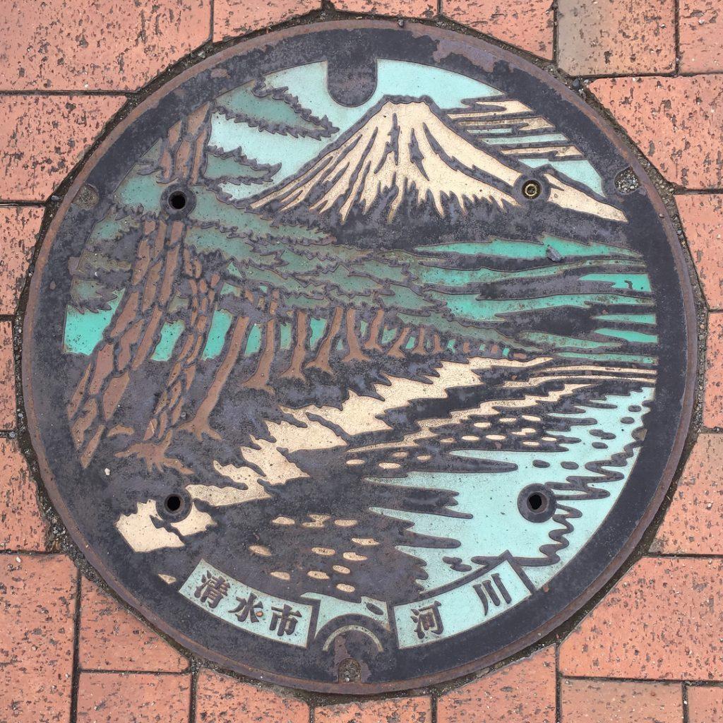 富士山人孔蓋_三保松原