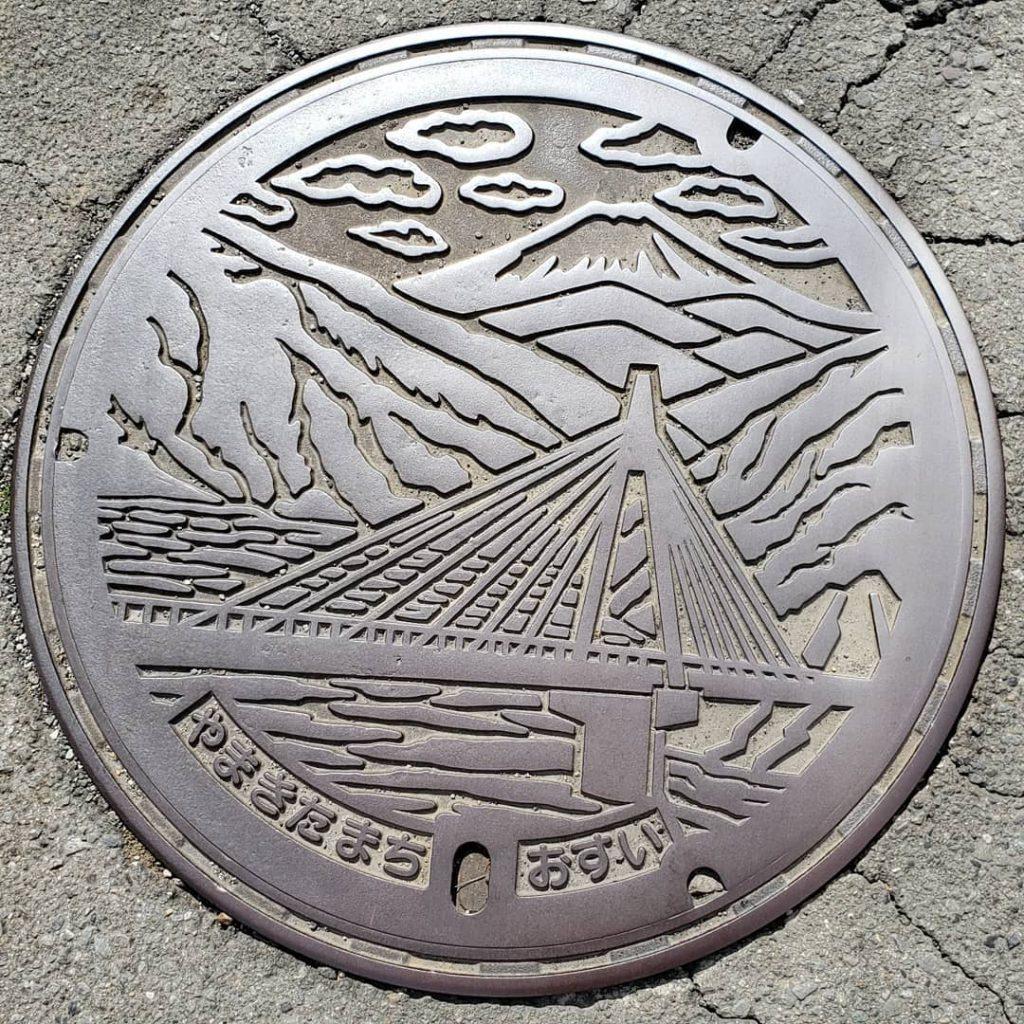 富士山人孔蓋_神奈川_山北町