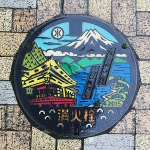 富士山人孔蓋_久能山東照宮與富士山