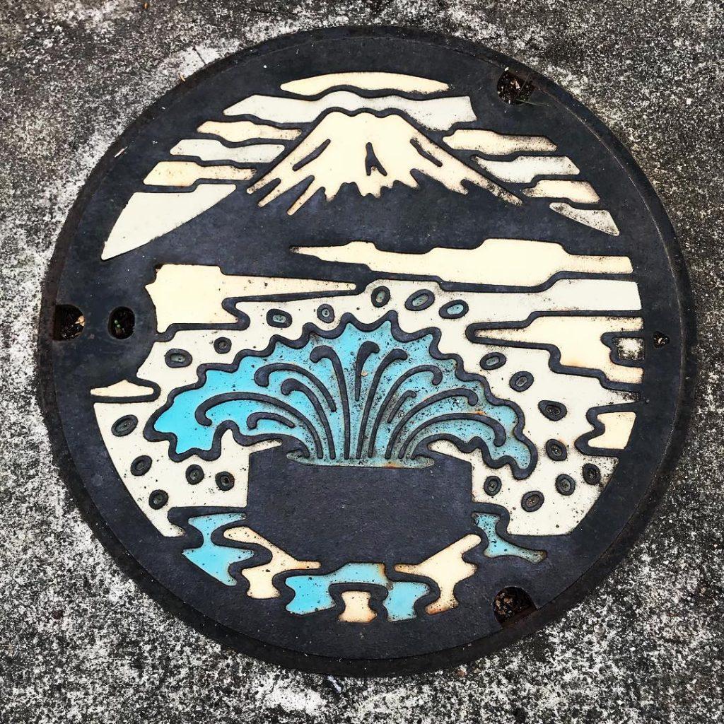 富士山人孔蓋_六角井