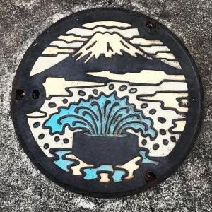 富士山人孔蓋_六角井 富士市