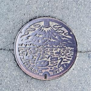 富士山人孔蓋_山中湖與天鵝 山中湖村