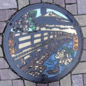 富士山人孔蓋_日本三奇橋之一-猿橋 大月市