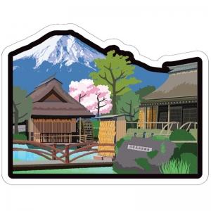富士山明信片_世界遺產系列-忍野八海