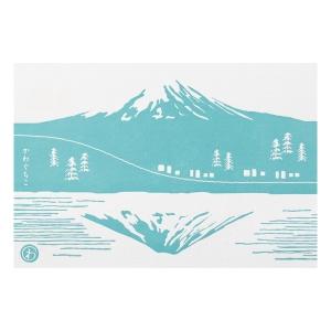 富士山明信片_富士山河口湖逆富士