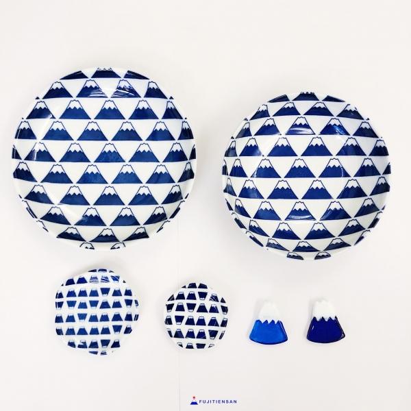 富士山碗盤食器_日本百元商店