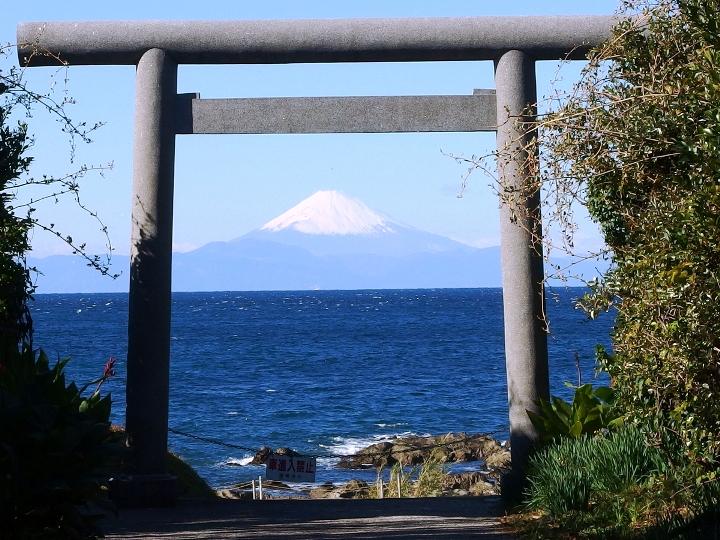 鳥居富士山-洲崎神社