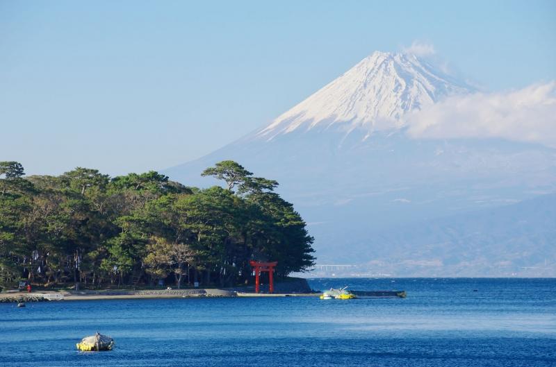 鳥居富士山-諸口神社鳥居