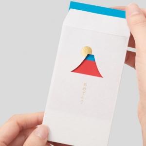 開窗富士山小紅包袋-MARUAI