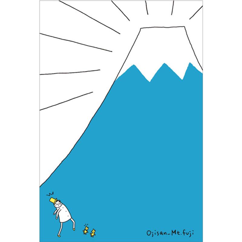 富士山明信片-歐吉桑河口湖郵便局限定