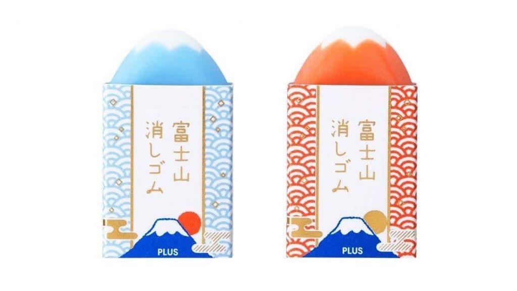 富士山橡皮擦 經典藍富士紅富士